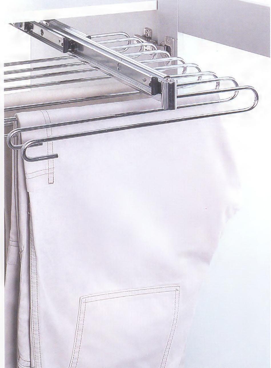 výsuvný věšák na kalhoty - 9 ramen