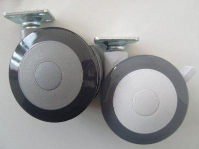 kolečko pr.75mm | šedé s brzdou