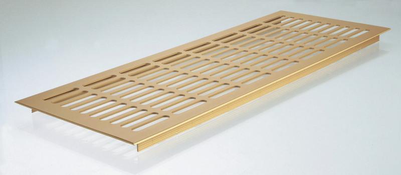 větrací mřížka zlatý elox / 400mm