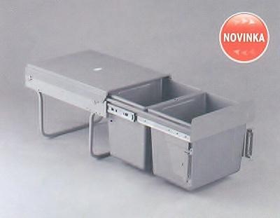 Výsuvný odpadkový koš klasik 40/2 pod dřez s úchyty